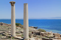 Tharros. Is a historic place in Sardinia, built from romans Royalty Free Stock Image