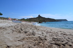 Tharros beach in Sardinia, Italy Royalty Free Stock Image