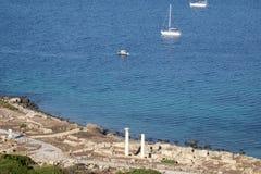 Tharros, Cerdeña, Italia, Europa, el sitio arqueológico imagen de archivo