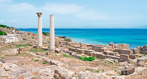 Tharros on a clear day Stock Photography
