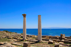 Tharros Columns Stock Photos