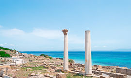 Tharros columns by the sea Stock Photos