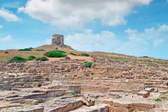 Tharros under San Giovanni tower Stock Images