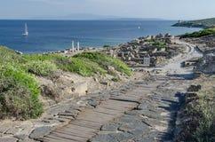 Tharrosruïnes, Sardinige stock afbeelding