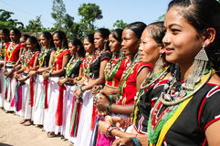 Tharu culture. According to the nepali tharu culture traditional dance in great festival dashina and maghi Stock Images