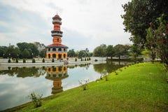 Thasana监视塔在轰隆痛苦宫殿在泰国 免版税图库摄影