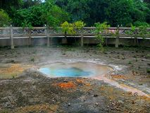 Thasathon hot spring.Ratta-na-go-sai hot spring. Stock Photo