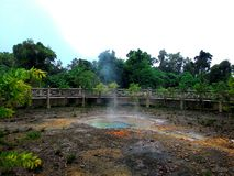 Thasathon hot spring.Ratta-na-go-sai hot spring. Royalty Free Stock Photography