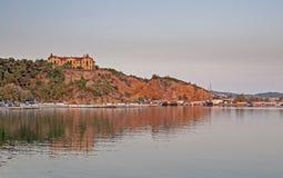 Thasos, Greece. Bay on Thasos island, Limenaria village, Greece, evening light Stock Photo