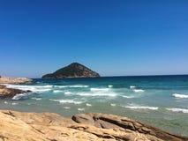 Thasos island greece. Gulf and mountains lanscape Royalty Free Stock Photos