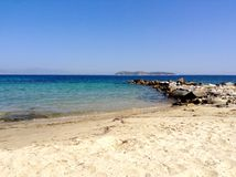 Thasos island. Greece. Hot day at beach on Thasos, Greece Royalty Free Stock Images