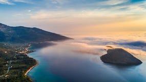 Thassos希腊海岛的Kinira海岛  免版税图库摄影