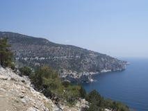 Thassos海岛岸,希腊 免版税库存照片