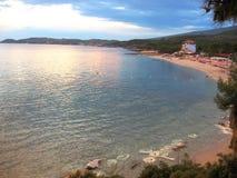 Thassos海岸  免版税库存图片
