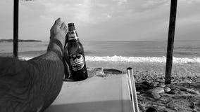 Thassos海滩,希腊 图库摄影