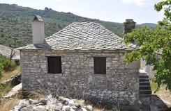 Thassos, am 23. August: Historisches Haus in Theologos-Dorf von Thassos-Insel in Griechenland Lizenzfreie Stockfotografie