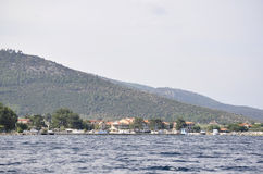 Thassos, August 21st: Foreshore of Thassos island from Cruise around in Greece stock photos