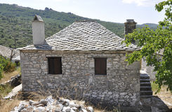 Thassos, August 23th: Historic House in Theologos Village from Thassos island in Greece Royalty Free Stock Photography
