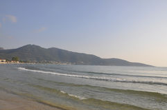 Thassos, August 19th: Sunrise Beach from Thassos island in Greece Stock Images