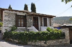 Thassos, August 23th: Traditional House in Theologos Village from Thassos island in Greece Stock Images