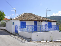 Thassos, August 23th: Traditional House in Theologos Village from Thassos island in Greece Royalty Free Stock Images
