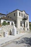 Thassos, 23 Augustus: De historische Bouw in Theologos-Dorp van Thassos-eiland in Griekenland Royalty-vrije Stock Fotografie