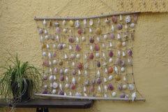 Thassos, 20 Augustus: Shells Tapijt in Potos-dorp van Thassos-eiland in Griekenland Royalty-vrije Stock Afbeelding