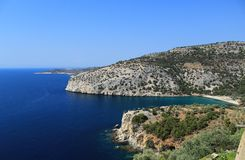 Thassos. Cliffs view from Thassos island Royalty Free Stock Photo