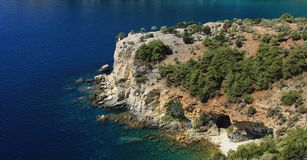 Thassos. Cliffs view from Thassos island Royalty Free Stock Photos