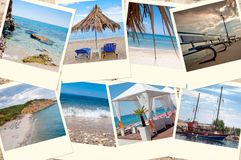 Thassos collage Royalty Free Stock Photo