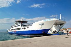 The Thassos ferry Royalty Free Stock Photography