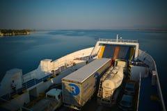 Thassos ferry Stock Image
