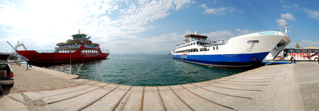 The Thassos ferry going to Thassos island Stock Photos