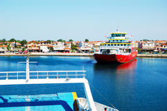 The Thassos ferry going to Thassos island Stock Photography