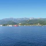 Thassos ferrys 2. Thasos ferry anchored near Limenas Stock Photography