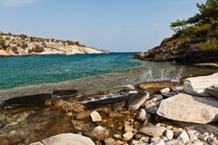 Thassos Greece. Landscape from coast of Thassos Greece Stock Image