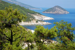 Thassos, Greece. Sea lagoon, Island Thassos, Greece Stock Photography