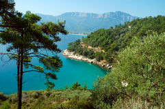 Thassos, Greece. Beautiful sea lagoon, Mediterranean sea. Thassos, Greece Royalty Free Stock Photography