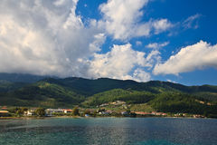 Thassos island. View at the thassos island from the sea Royalty Free Stock Image