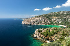 Thassos island. Greece panoramic view Stock Image