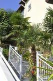 Thassos, Sierpień 20th: Stary domu ogród w Potos wiosce od Thassos wyspy w Grecja Obraz Royalty Free