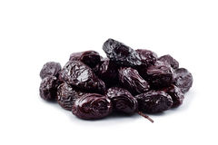 Thassos Throuba olives on white, clipping path Royalty Free Stock Images