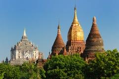 thatbyinny bagan缅甸缅甸pahto的寺庙 免版税库存照片