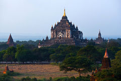 Thatbyinnyu寺庙在Bagan考古学区域,缅甸 免版税库存图片