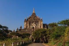 Thatbyinnyu寺庙,在缅甸(Burmar)的Bagan 免版税库存图片