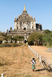 Thatbyinnyu temple at the archaeological site of Bagan Royalty Free Stock Photography
