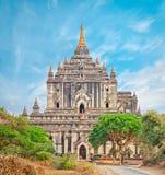 Thatbyinnyu Temple in Bagan. Stock Image