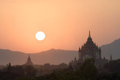 Thatbyinnyu temple in Bagan, Myanmar (Burma) Royalty Free Stock Image