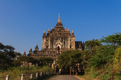 Thatbyinnyu Temple  ,  Bagan in Myanmar (Burmar) Royalty Free Stock Image