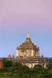 Thatbynniu temple, Bagan at Sunset, Myanmar. stock images